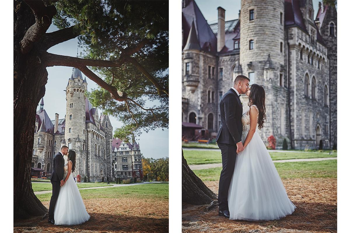 Plener ślubny na zamku w Mosznej 19