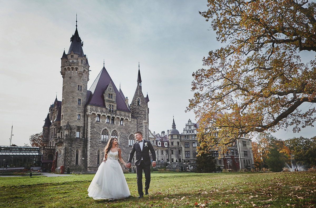 Plener ślubny na zamku w Mosznej 21
